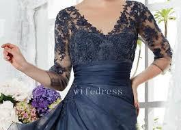 Mother Of The Bride Groom Dress 3 4 Sleeves V Neck Evening
