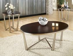 coffee table in nickel cosmo three pack occasional table set brand steve silver steve silver company