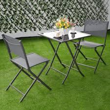 3pcs bistro set garden backyard table