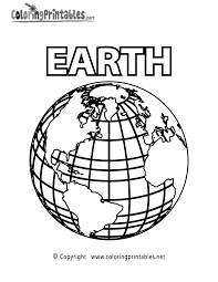Planet Earth Coloring Page A Free