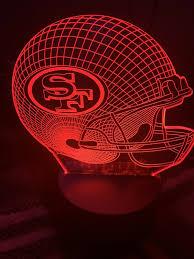 49er Lights Nfl San Francisco 49ers 3d Led Lamp Night Light