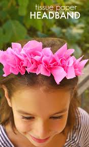 Paper Flower Headbands Diy Tissue Paper Headband Make And Takes