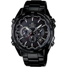 casio edifice black dial chronograph black stainless steel casio edifice black dial chronograph stainless steel bracelet mens watch eqw m600dc 1aer