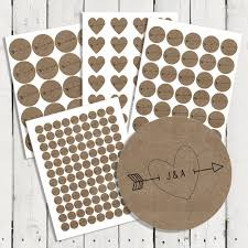 Personalized Wedding Brown Kraft Stickers Seals For Invitations
