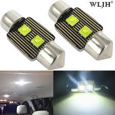 Honda Prelude Light Bulb Size Amazon Com Wljh 2pcs 31mm Festoon Led Dome Light De3175