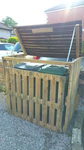 outdoor garbage can storage small size of pallet garbage bin storage shed wooden trash can holder