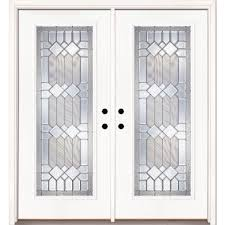 white double front door. 66 In. X 81.625 Mission Pointe Zinc Full Lite Unfinished Smooth Right- White Double Front Door S