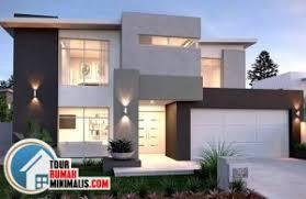 65 contoh gambar model rumah minimalis 2 lantai tampak depan