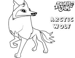 Animal Jam Coloring Pages Arctic Wolf Adri Fox Coloring Page