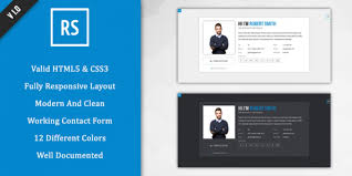 Resume Website Template Cv Website Template Html Fungramco 76