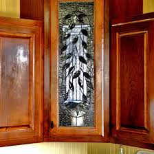stained gl cabinet doors wood n stone cabinets