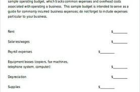 5 House Budget Template