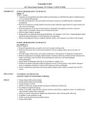 Download Echocardiography Technician Resume Sample as Image file