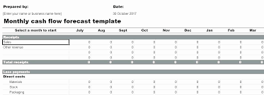 Cash Flow Forecast Template Excel Weekly Cash Flow Projection
