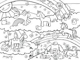 Rainbow Coloring Page Or Unicorn Rainbow Coloring Pages Free