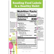 Reading Health Chart Amazon Com Reading Food Labels Chart Health Personal Care