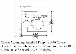 Door Closer Size Chart Yale 1950 Traditional Corner Bracket