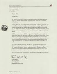 faculty letter of recommendation letter of recommendation from former faculty advisor of the
