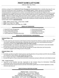Project Manager Resume Samples Enchanting Top Project Manager Resume Templates Samples