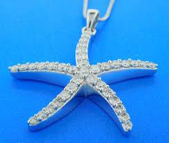 starfish diamond pendant necklace