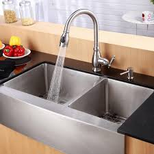 Kitchen Apron Sink With Faucet Holes Stainless Apron Sink