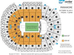 Hp Pavillion San Jose Concert Seating Chart Nationwide Arena