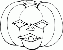 Awesome Collection of Pumpkin Faces Coloring Pages With Reference ...