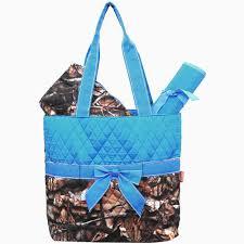 BNB Natural Camo® 3pcs Quilted Diaper Bag-Turq | Cute Quilted ... & BNB Natural Camo® 3pcs Quilted Diaper Bag-Turq Adamdwight.com