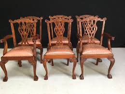 chippendale style dining room chairs