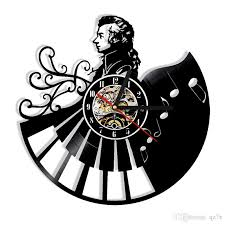 office wall clocks large. Piano Music Mozart Vinyl Creative Wall Clock Modern Home Decor Personality Office Art Size: 12 Inches, Color: Black White Kitchen Clocks Large