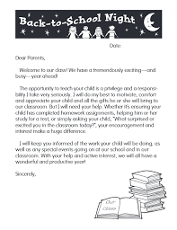 Welcome Back To School Letter Templates Back To School Letter Template Free Teacher Welcome Letter Template