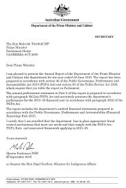 Letter Of Transmittal Department Of The Prime Minister And Cabinet
