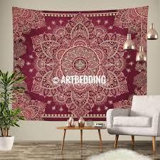 tapestry red g vintage mandala wall hanging boho comfortable