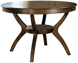 round dining table base: modern classic dark walnut round dining tables with storage space under table base