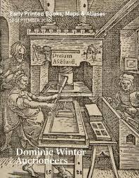 early printed books maps atlases 14 september 2018