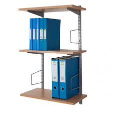 wall mounted shelving with bookends