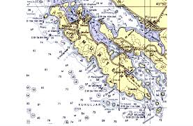 Part Of The Nautical Chart 100 21 With The Island Of Murter
