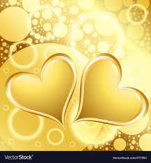 Gold heart shiny background Royalty ...