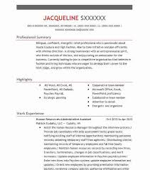 Administrative Assistant Skills Resume Human Resources Administrative Assistant Resume Sample Livecareer