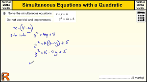 simultaneous equation with quadratic gcse further maths revision 3 calculator maxresde full size