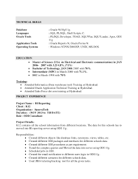 Sql support resume samples