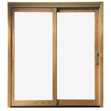 exterior sliding glass door. Exellent Glass Pella 450 Series White Aluminum CladUnfinished Unfinished Wood Sliding  Patio Door With Insulating Core Throughout Exterior Glass N