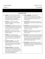 Homework Comparison Chart Articles Vs Constitution Docx
