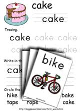 Our free phonics worksheets are colors, simple, and let kids understand phonics in a natural way through fun reading and speaking activities. Long Vowel Bossy E Phonics Worksheets