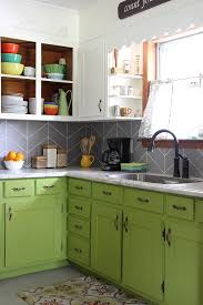 Painting Kitchen Tile Backsplash Custom DIY Herringbone Tile Backsplash