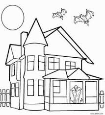 Small Picture Top 25 Haunted House Coloring Pages For Your Little Ones