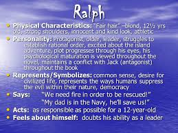 lord of the flies character notes ppt video online  2 ralph