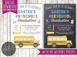 Preschool Graduation Announcements Preschool Graduation Invitation Kindergarten Graduation Invitation Photo Printable Diy