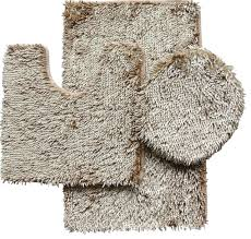 3 piece shiny chenille bath rug set includes rug contour and lid cover modern bath mats by brown s linens and window coverings