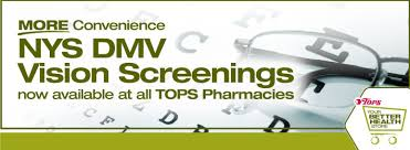 tops friendly markets dmv vision tests